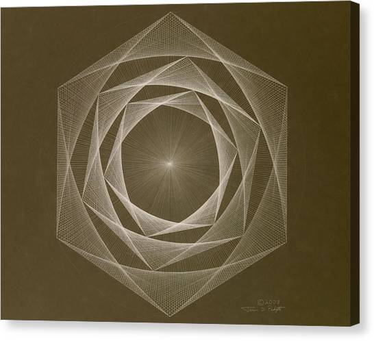 Inverted Energy Spiral Canvas Print