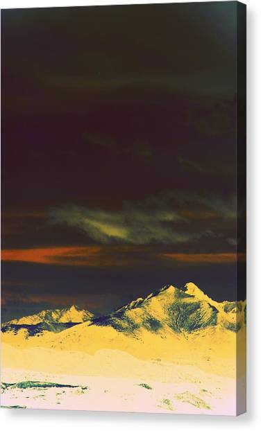 Inverted Peaks Canvas Print by Augustina Trejo