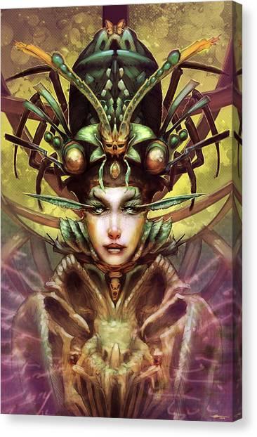 Alien Eyes Canvas Print - Invigilator by Ethan Harris