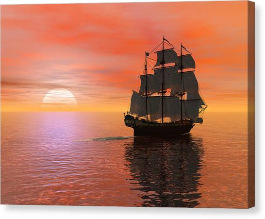 Invisible Breeze Canvas Print