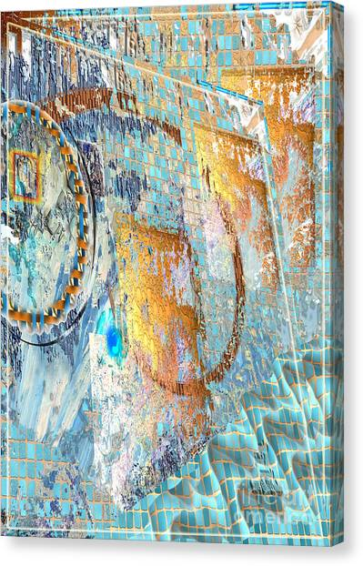 Canvas Print featuring the digital art Inw_20a6022sz Ageless Glacial Memories by Kateri Starczewski