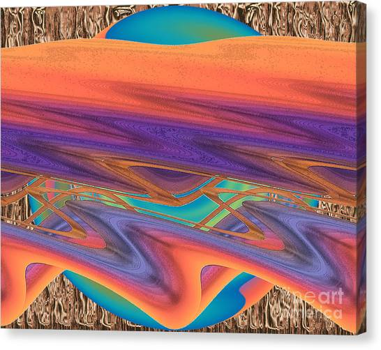 Canvas Print featuring the digital art Inw_20a6037 Weaving by Kateri Starczewski