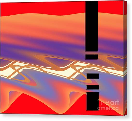 Canvas Print featuring the digital art Inw_20a6050 Weaving by Kateri Starczewski