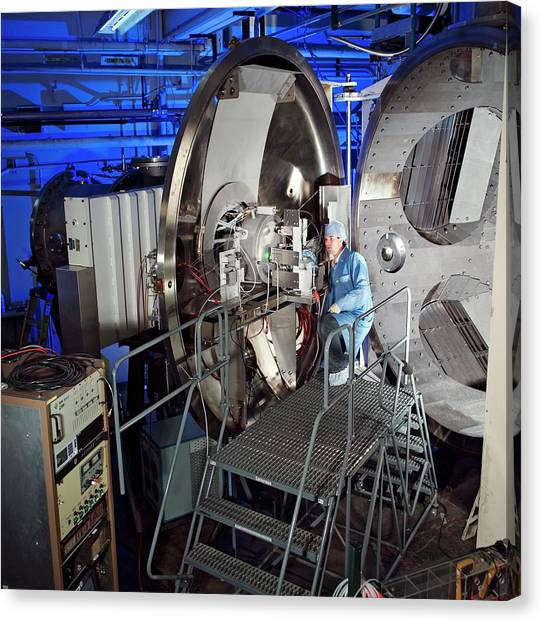 Accelerate Canvas Print - Ion Thruster Testing by Nasa