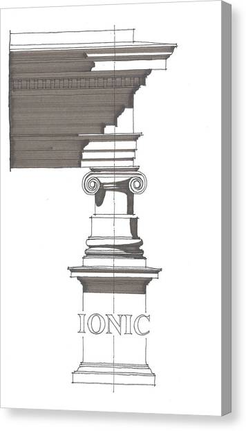 Ionic Order Canvas Print