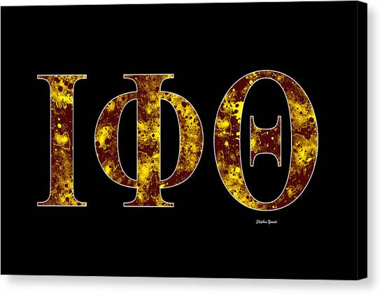 Iota Phi Theta Canvas Print - Iota Phi Theta - Black by Stephen Younts