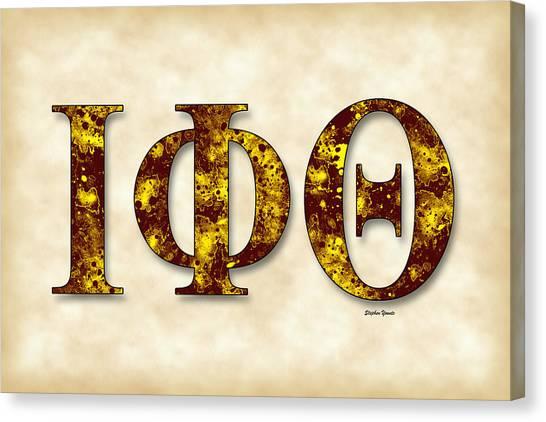 Iota Phi Theta Canvas Print - Iota Phi Theta - Parchment by Stephen Younts