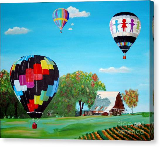 Iowa Balloons Canvas Print