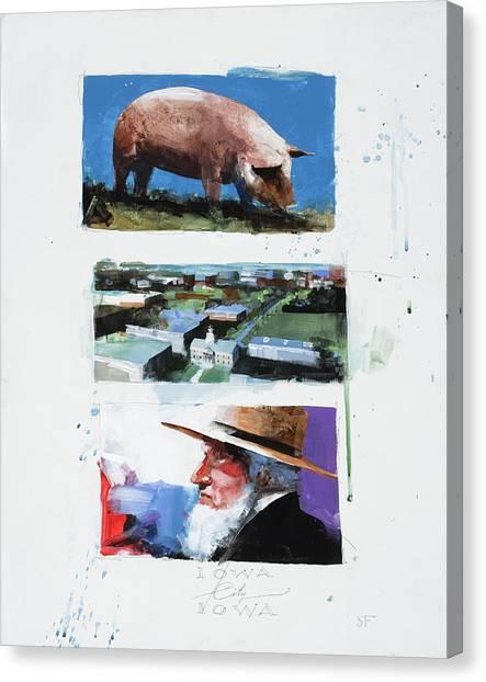 University Of Iowa Canvas Print - Iowa City Iowa by Stan Fellows