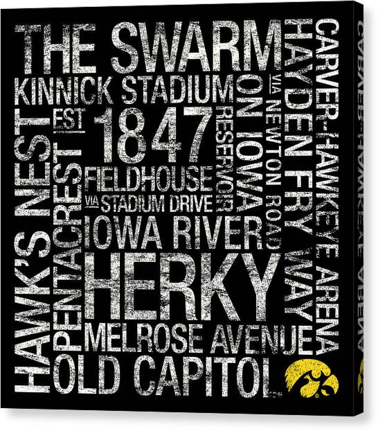 Iowa Canvas Print - Iowa College Colors Subway Art by Replay Photos
