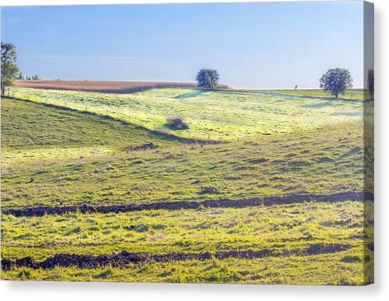 Iowa Farm Land #1 Canvas Print