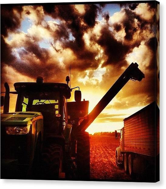 John Deere Canvas Print - Iowa Harvest by Spencer Neuberger