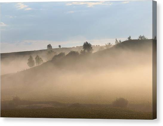 Iowa Morning Canvas Print by Angie Phillips