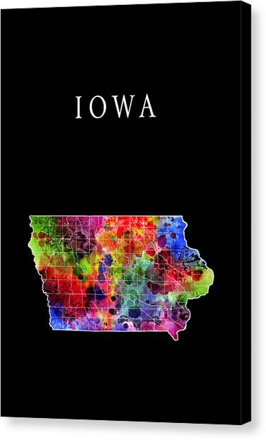Mississippi State University Canvas Print - Iowa State by Daniel Hagerman