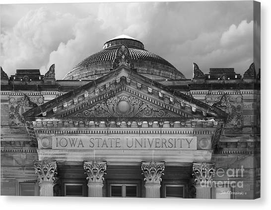 Iowa State University Canvas Print - Iowa State University Beardshear Hall by University Icons
