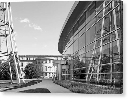Iowa State University Canvas Print - Iowa State University Hoover Hall by University Icons