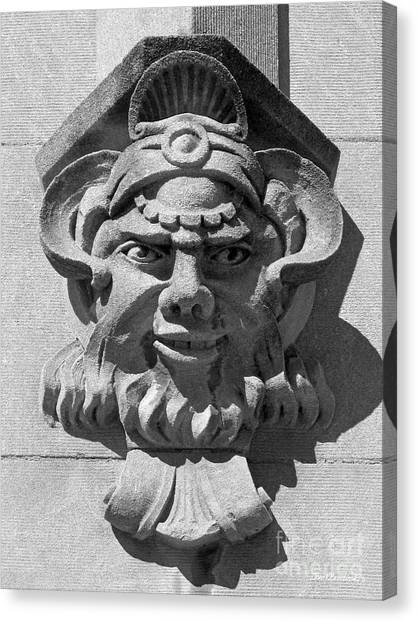 Iowa State University Canvas Print - Iowa State University Limestone Detail by University Icons