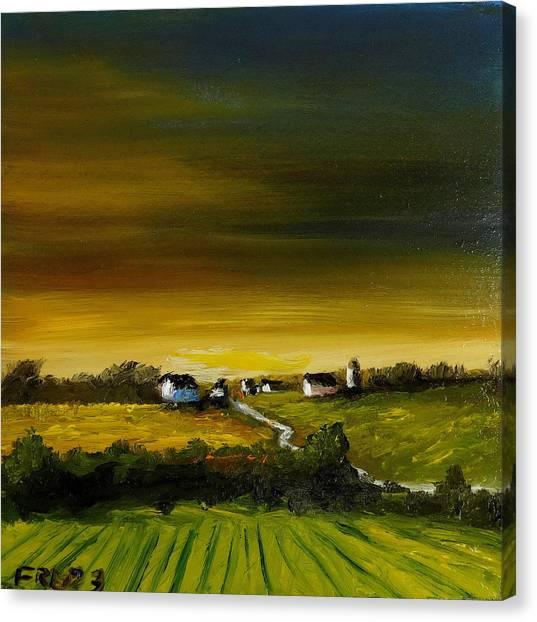 Iowa Sunrise 3 Canvas Print