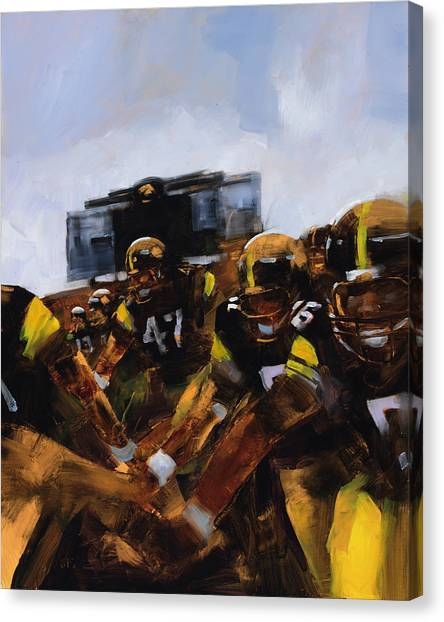 University Of Iowa Canvas Print - Iowa Swarm by Stan Fellows