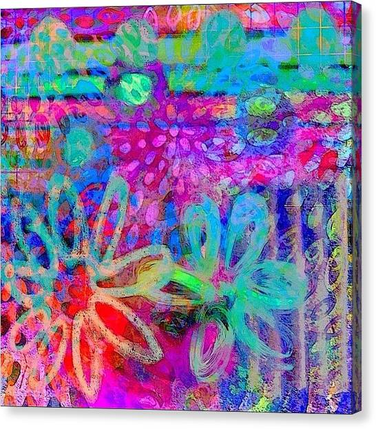 Rainbows Canvas Print - #ipadart #colorful #digitalart #rainbow by Robin Mead