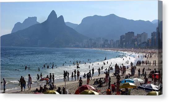 Rio De Janeiro Skyline Canvas Print - Ipanema Rio De Janeiro by Luiz Ribeiro