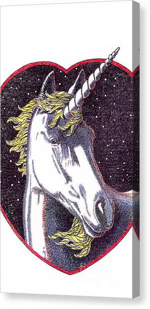 Unicorns Canvas Print - iPhone-Case-Unicorn-2 by Gordon Punt