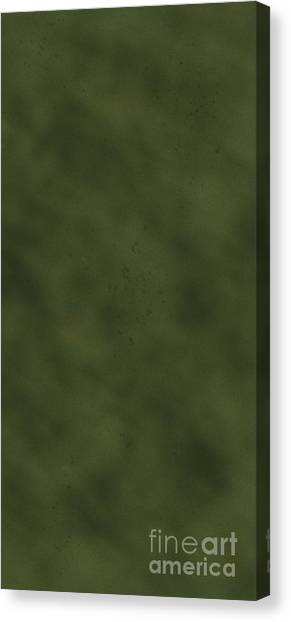 iPhone Green Olive Drab Canvas Print