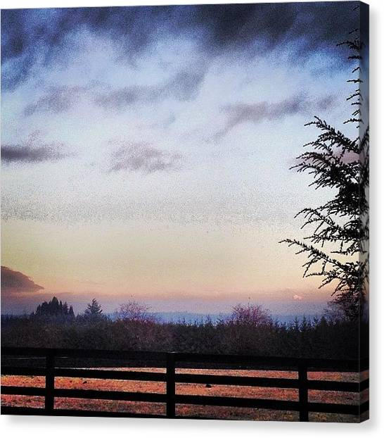 Rome Canvas Print - Iphone Shot From Far #fullmoon#mthood# by Rome Repcak