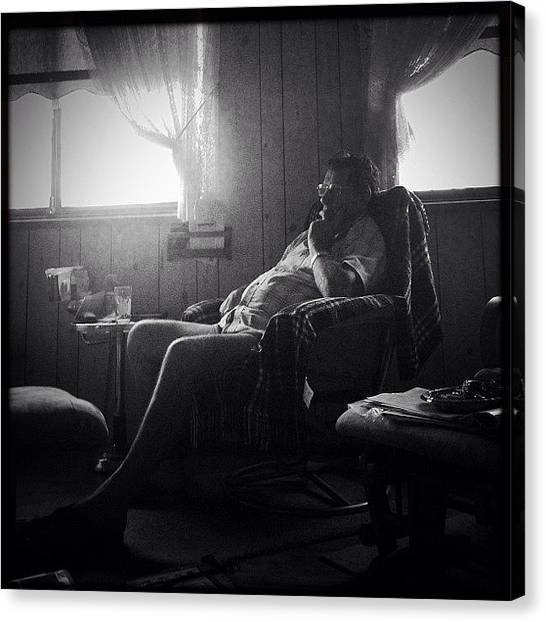 Lounge Canvas Print - #iphone5 #iphoneonly #mood #lounge by Jose Fernandez