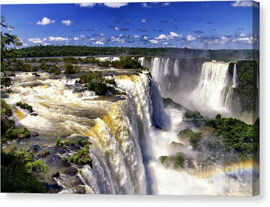 Iguazu Falls Canvas Print - Iquassu Falls - South America by Jon Berghoff