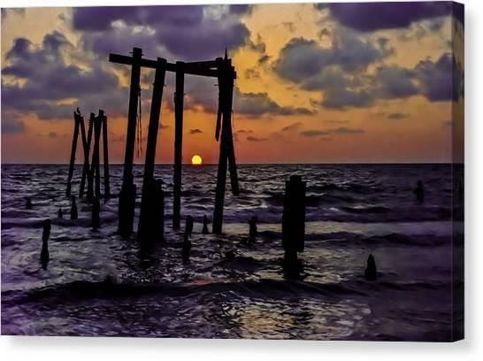 Irb Sunset Canvas Print