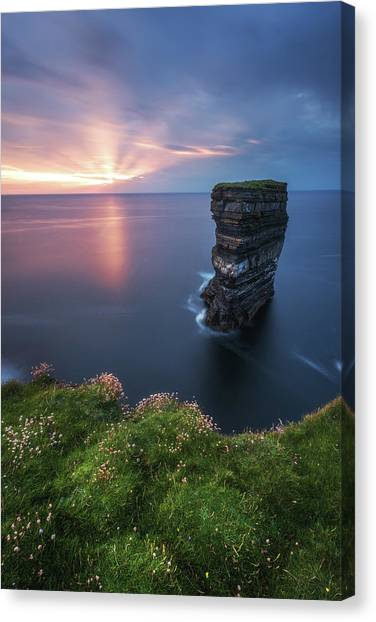 Ireland - Downpatrick Head Canvas Print by Jean Claude Castor
