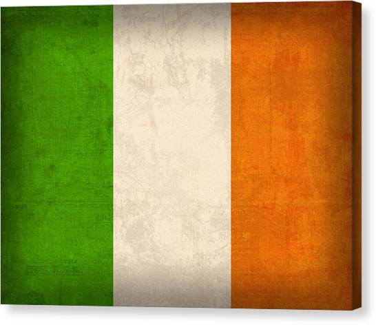Distressed Canvas Print - Ireland Flag Vintage Distressed Finish by Design Turnpike