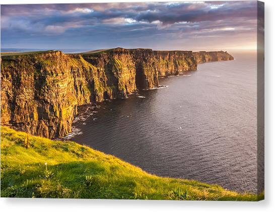 Ireland's Iconic Landmark The Cliffs Of Moher Canvas Print