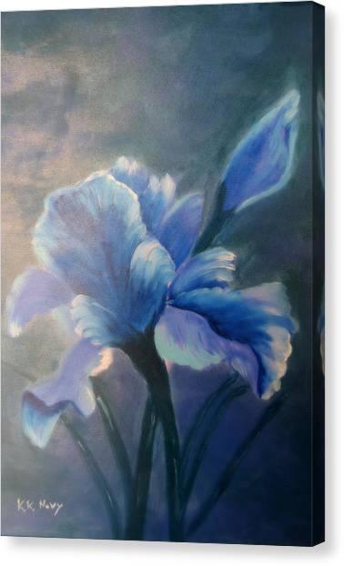 Iris Blue Canvas Print