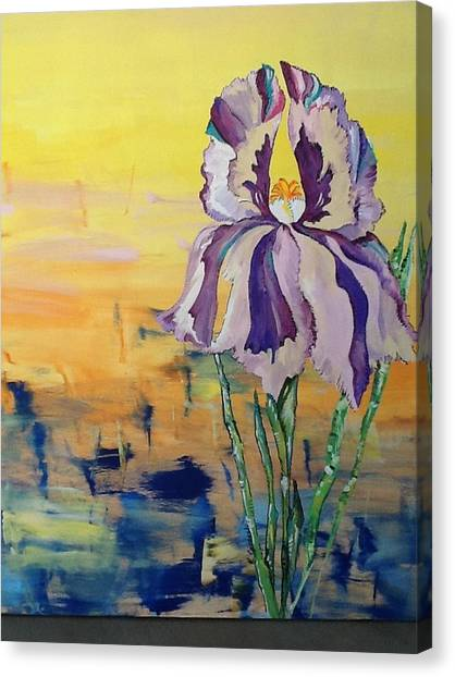 Iris Canvas Print by Karen Carnow