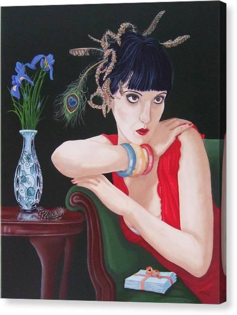 Canvas Print - Iris Peacock by Michael McEvoy