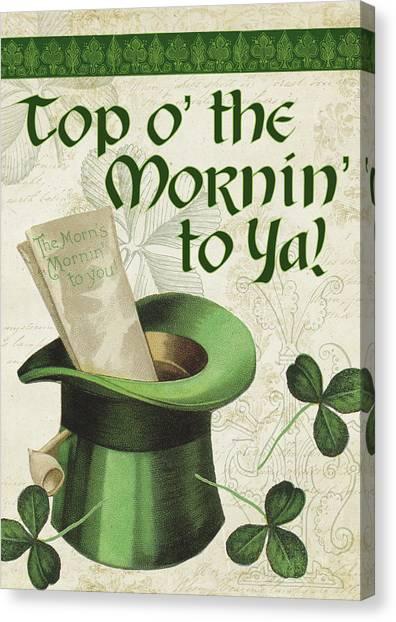St. Patricks Day Canvas Print - Irish Blessings by Tammy Apple