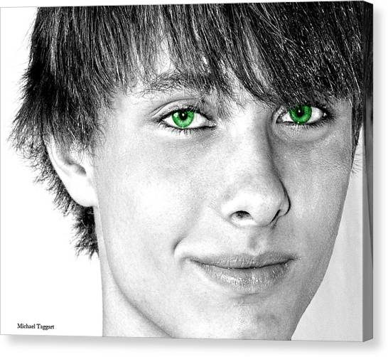 Irish Eyes Canvas Print by Michael Taggart