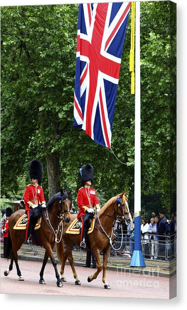 Royal Guard Canvas Print - Irish Guards At Trooping The Colour by James Brunker