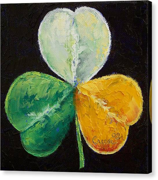 Clover Canvas Print - Irish Shamrock by Michael Creese