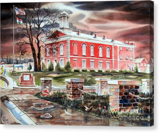 Iron County Courthouse No W102 Canvas Print