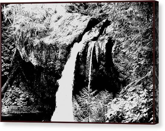 Iron Creek Falls Bw Canvas Print