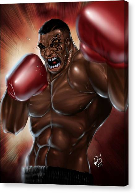Mike Tyson Canvas Print - Iron Mike by Pete Tapang