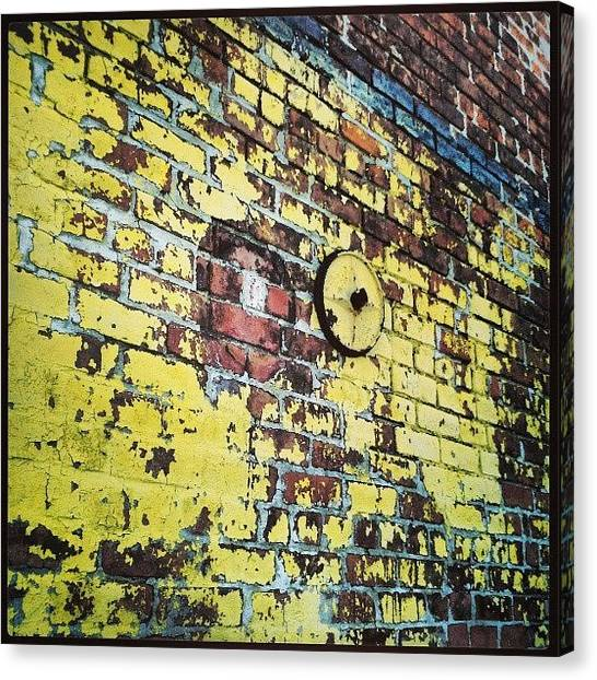 Warehouses Canvas Print - Irresistible #colors & #textures Of by Glen Abbott