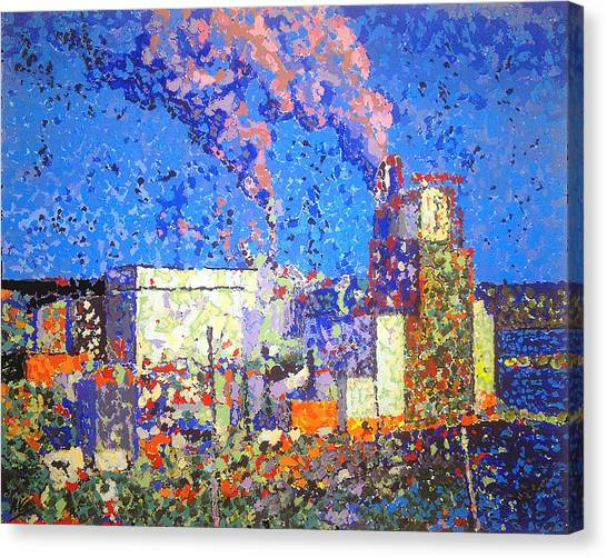 Irving Pulp Mill II Canvas Print