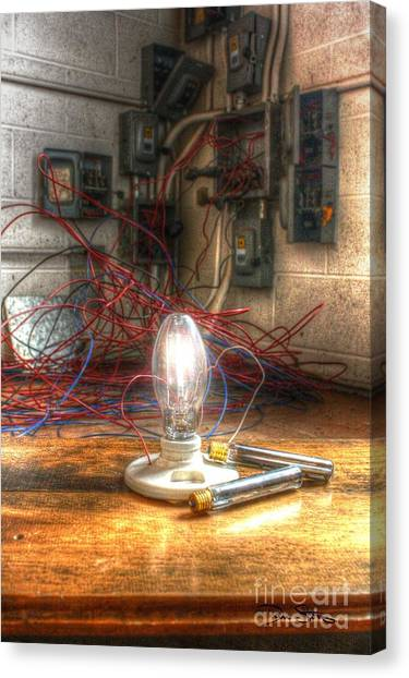 Is This Right Mr. Edison? Canvas Print
