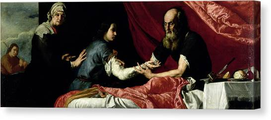 Old Testament Canvas Print - Isaac Blessing Jacob, 1637 Oil On Canvas by Jusepe de Ribera