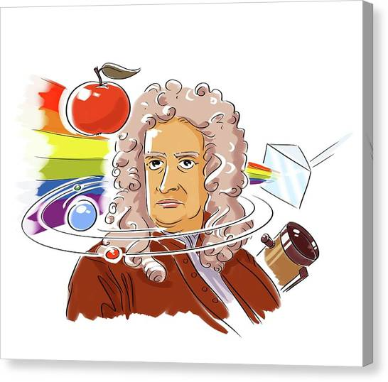 Philosophers Stone Canvas Print - Isaac Newton by Harald Ritsch