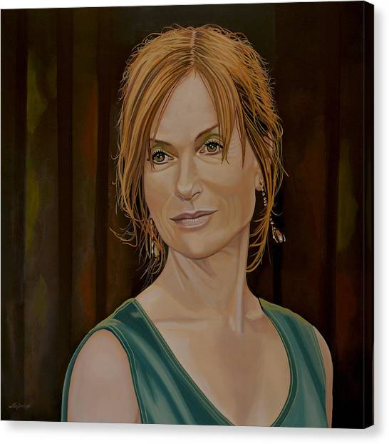 Teachers Canvas Print - Isabelle Huppert Painting by Paul Meijering